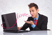 Man sending his love — Stock Photo