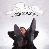 Tired business man sleeping — Foto de Stock
