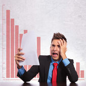 Business man in a crisis — Stock Photo