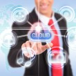 Cloud computing touchscreen interface - Foto Stock