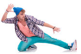 Young male dancer performing — Stock Photo