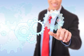 Business process gear of vision — Stock Photo