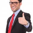Man showing thumbs up gesture — Stock Photo #21172045