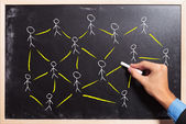 Social networking or teamwork concept — Stock Photo