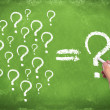 Decision, confusion, FAQ - Stock Photo