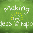 Making ideas happen - Stock Photo