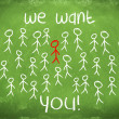 We want you ! - Foto de Stock  