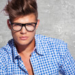 Young attractive man in glasses - Stock Photo