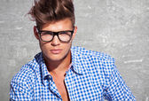 Young attractive man in glasses — Stock Photo
