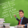 Man writes planning concepts - Foto Stock