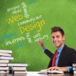 Man writes web design concepts - Stock Photo