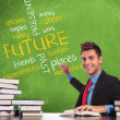 Man writes future concepts - Stock Photo