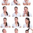 Collage of the same woman - Stock Photo