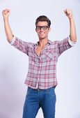 Hombre casual animando — Foto de Stock