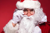 Closeup picture of santa claus face — Stock fotografie