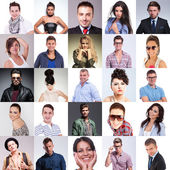 Many people faces collage — Stock Photo