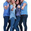 Casual group of people making the ok sign — Stock Photo