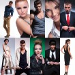 Stock Photo: Ten different people collage
