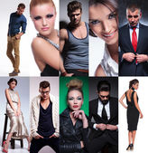 Ten different people collage — Stock Photo