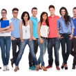 Happy group of young casual people standing together — Stock Photo #39613127