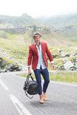 Moda erkek el açık bir çanta — Stok fotoğraf