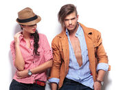 Young woman looking at her handsome boyfriend — Stock Photo
