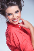 Portrait of a smiling young woman — Stock Photo
