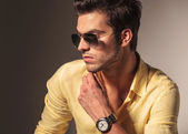 Side view of cool fashion man's face — Stock Photo
