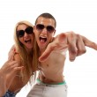 Young couple screaming — Stock Photo #5122889