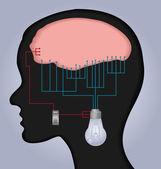 Brain illustration — Stock Vector
