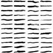 Stock Vector: Black brush strokes