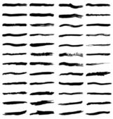 Black brush strokes — Stock Vector