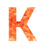 K land letter — Vector de stock
