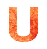 U land letter — Stockvektor