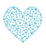 Raindrops heart — Stock Vector