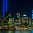 WTC memorial: Tribute in Light — Stock Photo