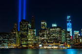 Wtc memorial: eerbetoon in licht — Stockfoto