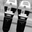 Paired parking meter - Stockfoto
