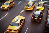 New York City taxicabs — Stock Photo