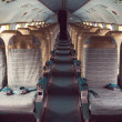 Stock Photo: Interior of old plane