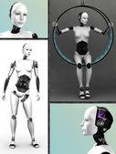 Robot kadın kolaj nr 1. — Stok fotoğraf