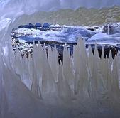 Transparante ijs structuur — Stockfoto