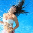 A beautiful woman relaxing in the pool — Stock Photo #12314005