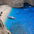 Navagio in Zakynthos, Greece - Stock Photo