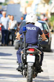 Greek police — Stock Photo