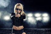Special tactics woman — Stockfoto