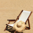 Sunbed on the beach — Stock Photo