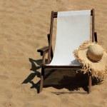 Sunbed on the beach — Stock Photo