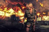 Mujer de tácticas especiales — Foto de Stock