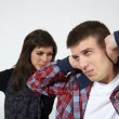 Young couple in state of troubles — Stock Photo